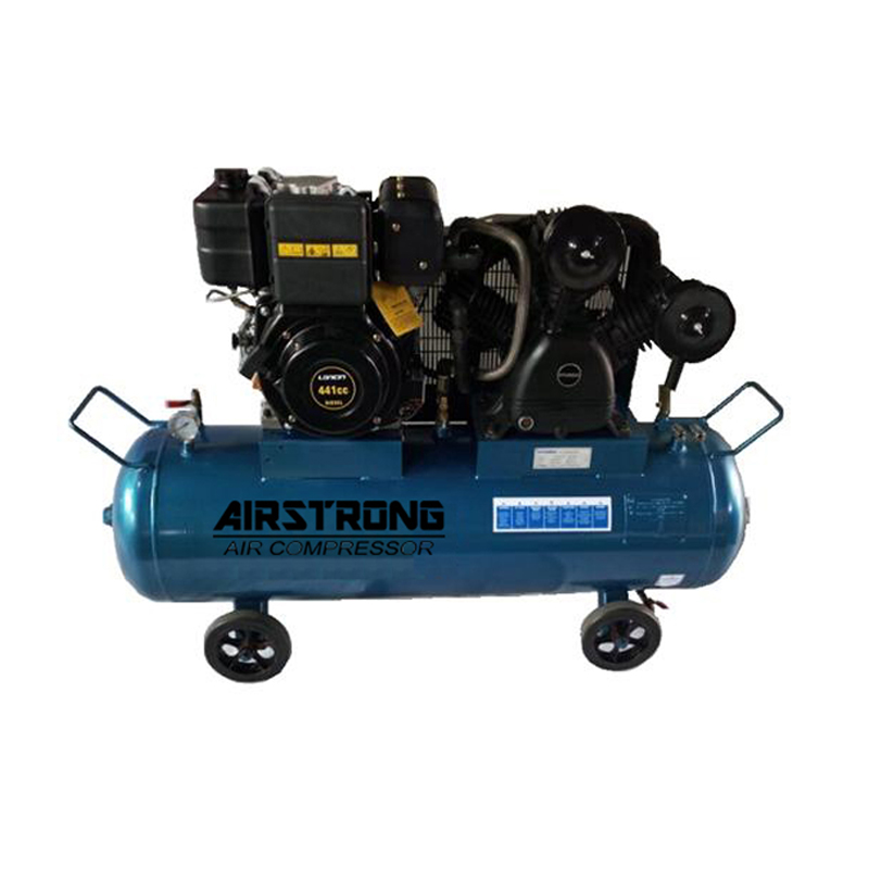 Airstrong 5.5HP 180L Diesel Engine Air Compressor ASTB75-180-186D