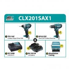 Makita Cordless Combo Kit CLX201SAX1