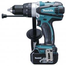 "Makita Cordless Hammer Driver Drill DHP458RTE 13mm (1/2"")"